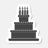 Urodzinowego torta majcher ilustracji