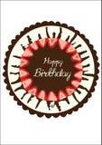 Urodzinowego torta Odgórnego widoku sztuki Wektorowy projekt ilustracji