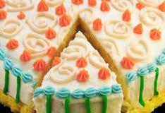 urodzinowego torta plasterek obraz royalty free