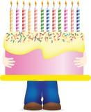 urodzinowego torta przewożenie ogromny ilustracji