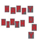 urodzinowego torta szczęśliwa ilustracyjna inskrypcja robić vector Elektroniczni listy tenderloin Na biały tle również zwrócić co Zdjęcie Royalty Free