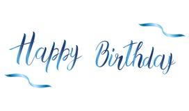 urodzinowego torta szczęśliwa ilustracyjna inskrypcja robić vector karcianych dzień powitania irysów macierzysty s wektor niebies Obrazy Stock