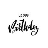 urodzinowego torta szczęśliwa ilustracyjna inskrypcja robić vector Kartka z pozdrowieniami z kaligrafią Ręka rysujący projekt Cza Obrazy Stock
