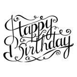urodzinowego torta szczęśliwa ilustracyjna inskrypcja robić vector Kartka z pozdrowieniami z kaligrafią Ręka rysujący projekt Zdjęcia Royalty Free