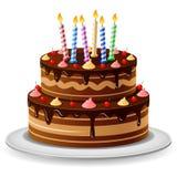 Urodzinowego torta tło Obraz Royalty Free
