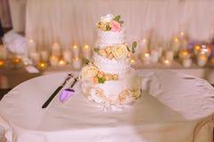 urodzinowego torta świeczek ilustraci wektor Zdjęcia Stock