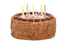 urodzinowego torta świeczki czekoladowe Zdjęcia Royalty Free