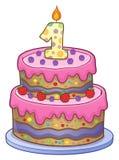 Urodzinowego torta wizerunek dla 1 roczniaka Zdjęcie Royalty Free