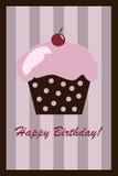 urodzinowej karty babeczka ilustracja wektor
