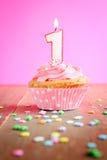 urodzinowej karty babeczki powitanie szczęśliwy Zdjęcie Stock