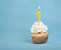 urodzinowej karty babeczki powitanie szczęśliwy Obraz Royalty Free