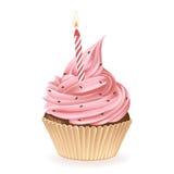 urodzinowej karty babeczki powitanie szczęśliwy Obrazy Royalty Free