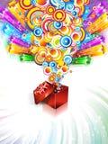 urodzinowej karty bożych narodzeń prezent royalty ilustracja