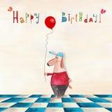 urodzinowej karty eps10 powitania ilustraci wektor Obrazy Stock