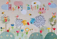 urodzinowej karty eps10 powitania ilustraci wektor Zdjęcie Stock