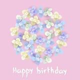 urodzinowej karty eps10 powitania ilustraci wektor Zdjęcia Stock