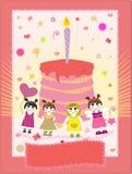urodzinowej karty ilustraci wektor Fotografia Royalty Free