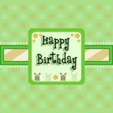 urodzinowej karty powitanie Obrazy Royalty Free