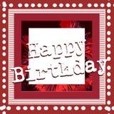 urodzinowej karty powitanie szczęśliwy Fotografia Royalty Free