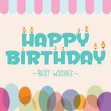 urodzinowej karty powitanie szczęśliwy Zdjęcia Stock