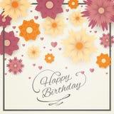 urodzinowej karty powitanie szczęśliwy ilustracji