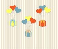 urodzinowej karty prezenta królik Zdjęcia Royalty Free
