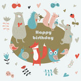 urodzinowej karty prezenta królik Fotografia Stock