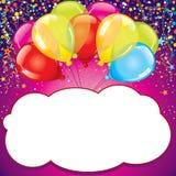 urodzinowej karty prezenta królik wektor Zdjęcia Royalty Free