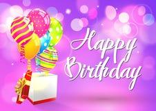 urodzinowej karty szczęśliwy wektor Fotografia Stock
