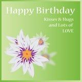 urodzinowej karty szczęśliwy wektor Obrazy Stock