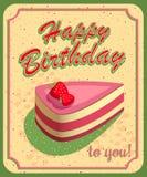 urodzinowej karty szczęśliwy wektor ilustracja wektor