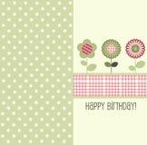 urodzinowej karty wektor Zdjęcia Royalty Free