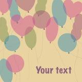 Urodzinowi balony Obrazy Stock
