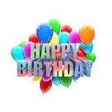 Urodzinowi balony Zdjęcie Stock