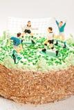 urodzinowi chłopiec torta gracz futbolu Obraz Stock