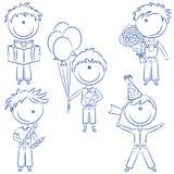 urodzinowi dzieciaki Zdjęcia Royalty Free