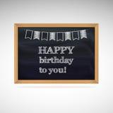 Urodzinowi powitania na schoolboard royalty ilustracja