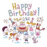 urodzinowi szczęśliwi dzieciaki Zdjęcie Stock