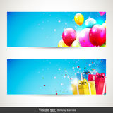 Urodzinowi sztandary - wektoru set Fotografia Stock