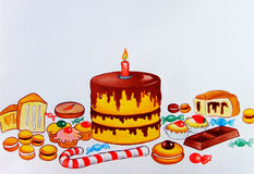urodzinowi torty Obrazy Stock