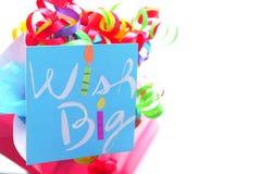 urodzinowi życzenia. Zdjęcie Stock