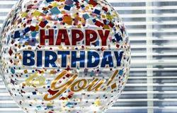 urodzinowy balonowy szczęśliwy Fotografia Royalty Free