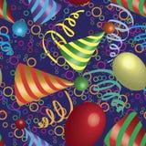 urodzinowy bożych narodzeń muzyki przyjęcia wzór bezszwowy Zdjęcie Royalty Free