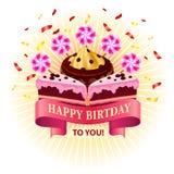Urodzinowy gereeting karciany szablon projekta cukierki Obraz Royalty Free