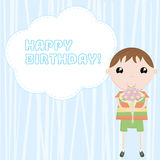 urodzinowy gratulacyjny szczęśliwy ilustracja wektor