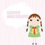 urodzinowy gratulacyjny szczęśliwy royalty ilustracja