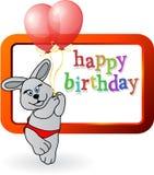 Urodzinowy królik zdjęcie stock