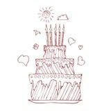 urodzinowy kulebiak Obrazy Royalty Free