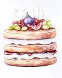Urodzinowy lato tort Fotografia Stock