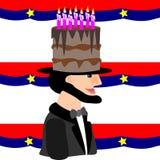urodzinowy Lincoln s ilustracja wektor
